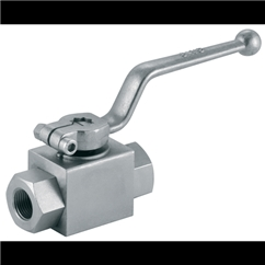 LHA Hydraulic 2 Way Ball Valve, 1 BSP, 25DN, Length: 113mm, 315 bar