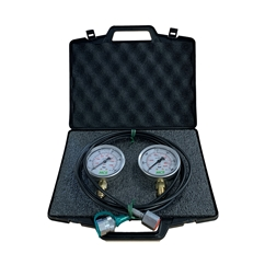 MCS Pressure Test Kit, 2 X 63mm Pressure Gauges & 1 X Micro Hose