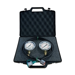 Flowfit Pressure Test Kit, 2 X 63mm Pressure Gauges & 1 X Micro Hose