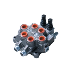 Bucher 2 Bank 1/2  BSP, 45 l/min Double Acting Spring Return Lever Operated Hydraulic Monoblock Valve