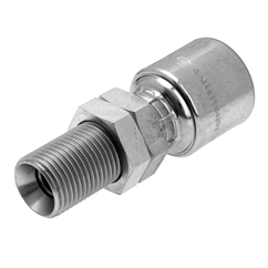 Gates BSP Male Bulkhead with Locknut, Fixed Hose Coupling, 1/2  Hose x 1/2  BSP