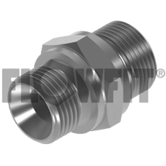 Stainless Steel, BSP Male X BSP Male to DIN 3852 Form A, 1/8 BSP X 1/4 BSP