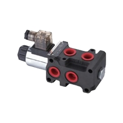 Flowfit 6 Way Hydraulic Solenoid Diverter, 3/8  BSP, Internal Drained, 12V DC, 50 L/Min Flows