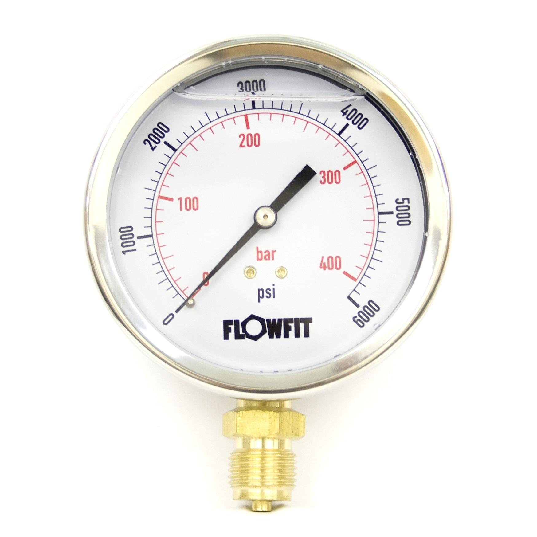 Hydraulic Pressure Meter : Mm glycerine filled hydraulic pressure gauge psi