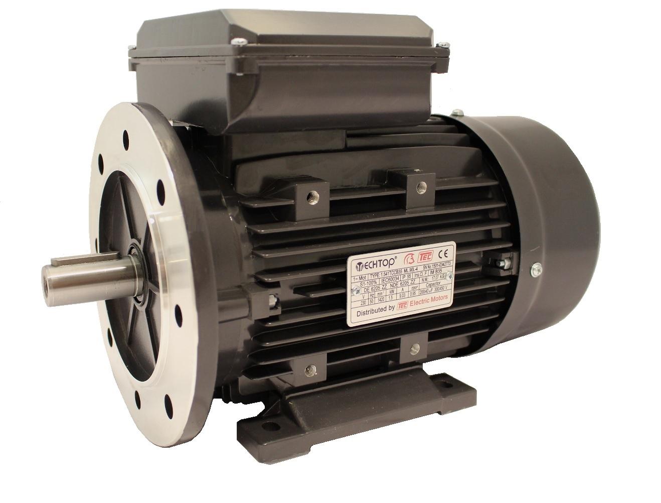 Quot Tec Single Phase 230v Electric Motor 1 1kw 4 Pole