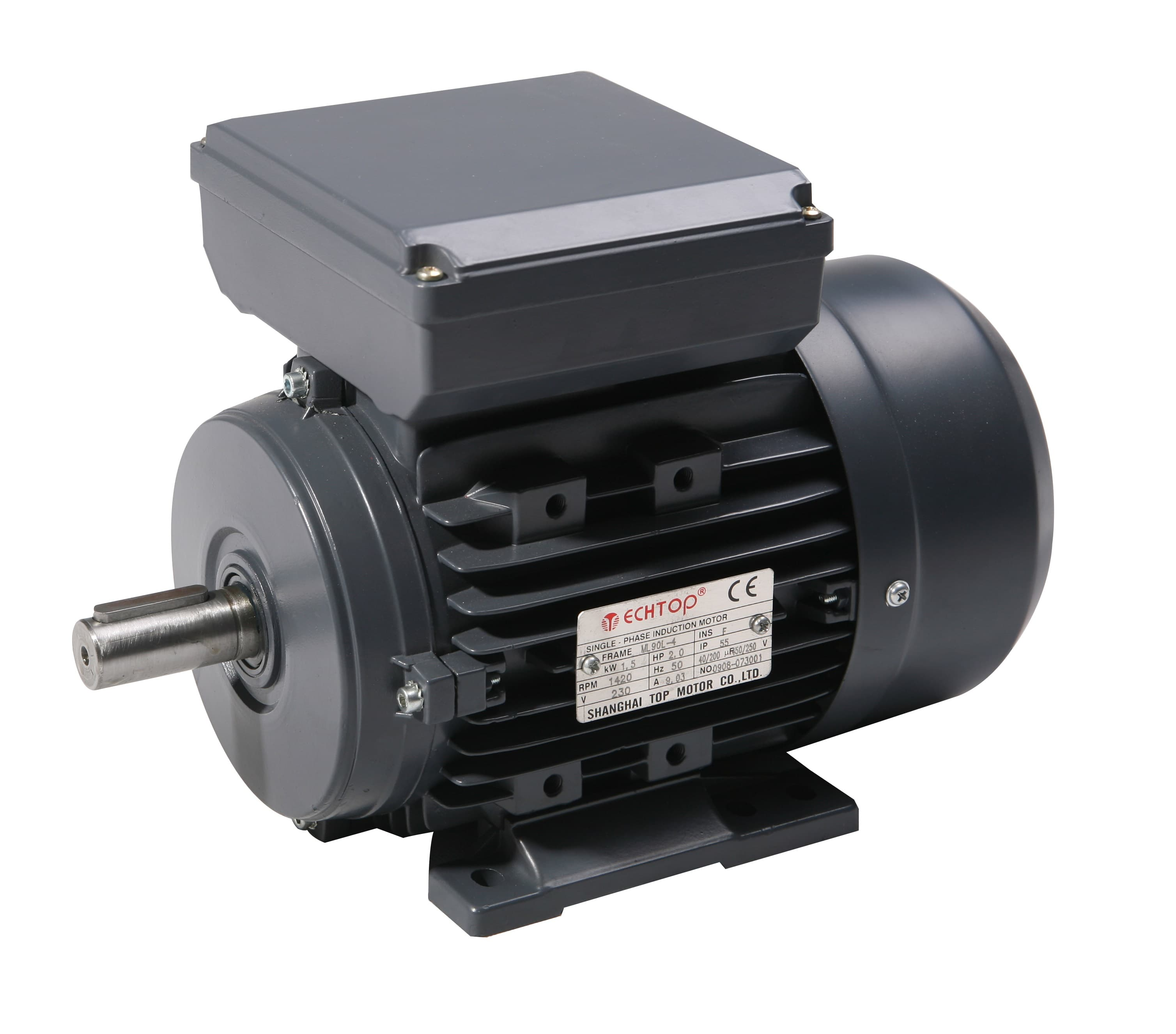 Tec single phase 230v electric motor 4 pole for Electric motor hydraulic pump