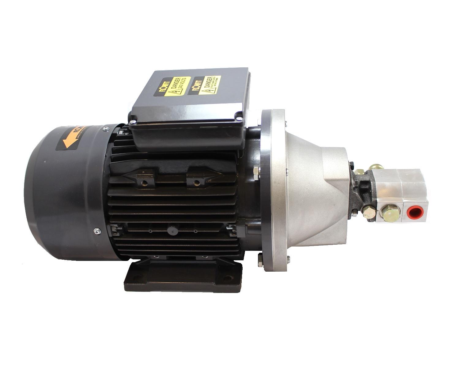 Hydraulic 3 7kw 240v 1 ph motor pumpset with 8gpm hi low for Electric motor hydraulic pump