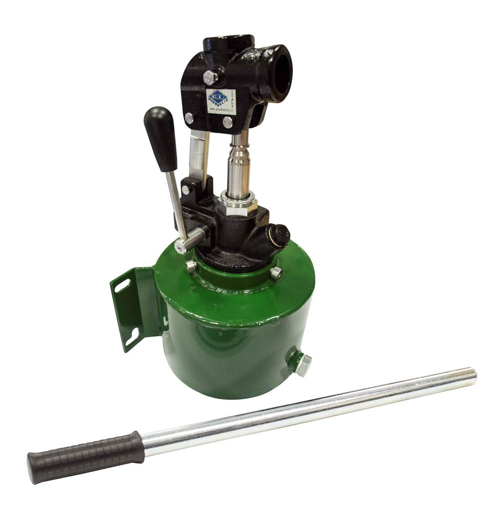 Hydraulic Hand Pump : Quot gl double acting cc hydraulic hand pump with litre