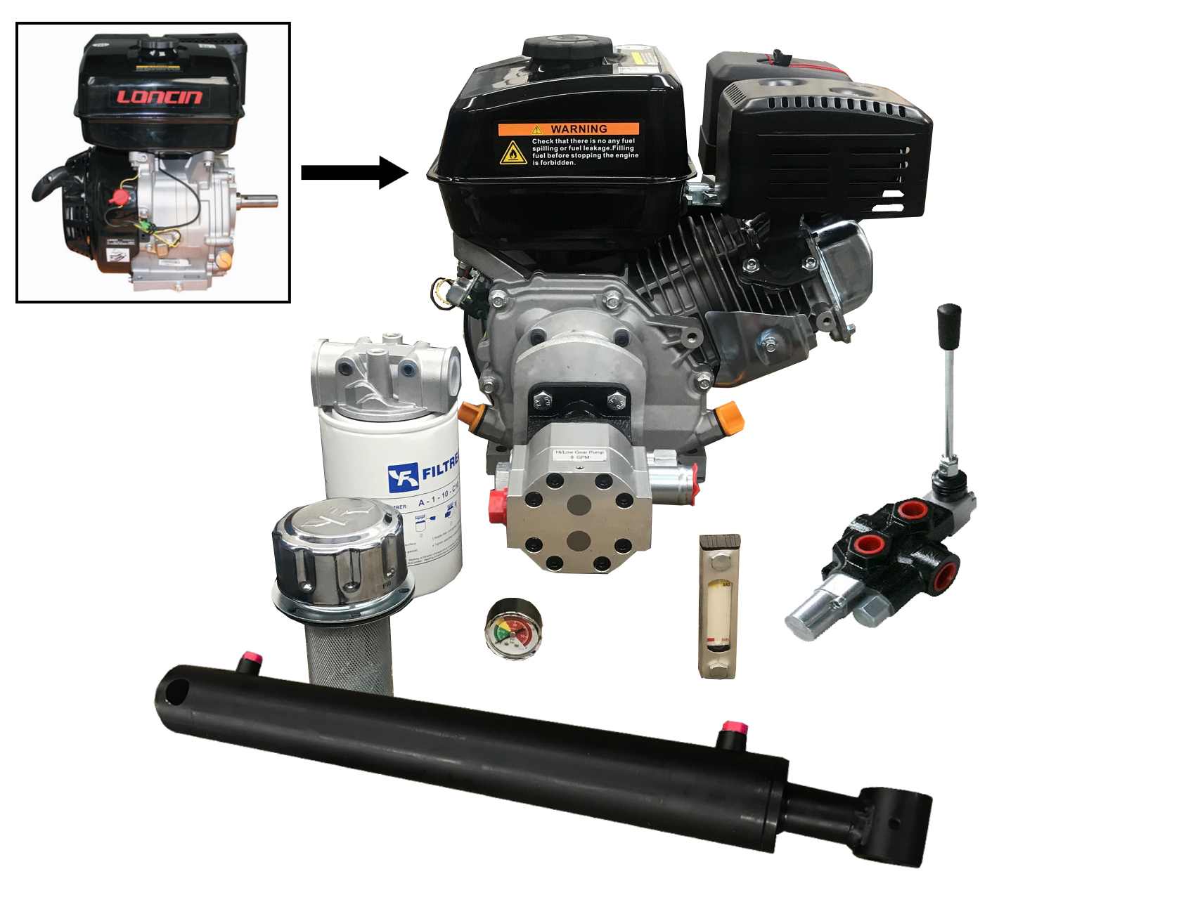 "Flowfit Hydraulic Log Splitter Auto Kick out Control Valve 3//4/"" Ports ZZ005421"
