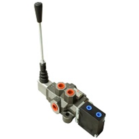 Hydraulic Valve Control Lever : Quot bucher hydraulic l min one bank double acting