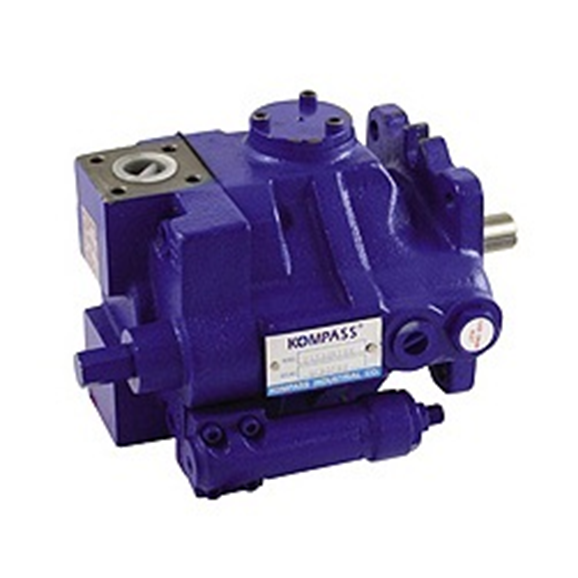 Hydraulic variable displacement piston pump flow @ 1500 RPM = 104.55 litre, pressure range 20-210 Bar