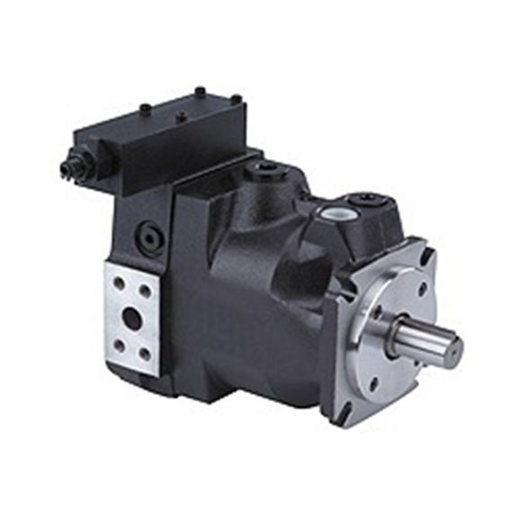 Hydraulic variable displacement piston pump flow @ 1500 RPM = 34.5 litre, max. speed = 2700 RPM, pressure range 40-210 Bar