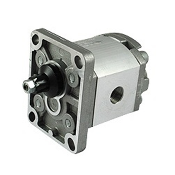 Hydraulic gear pump, STD group 1 BSP threaded ports 1 1:8 taper 4 bolt flange 0.9CC