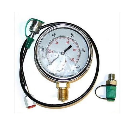 63mm 0-100 PSI Gauge and 2m test kit c/w check coupling