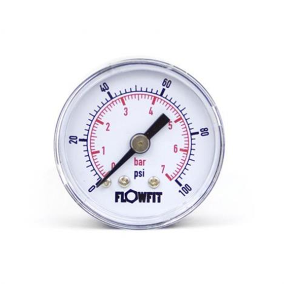 "40mm Dry/Pneumatic pressure gauge 0-100 PSI (7 BAR) 1/8"" bspt rear entry"
