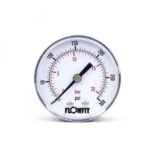 "50mm Dry/Pneumatic pressure gauge 0-300 PSI (21 BAR) 1/4"""" bsp rear entry"