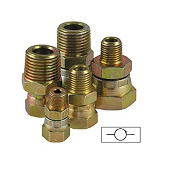 "Pressure gauge swivel adaptors 1/2"""" - 1/2"""" ports"