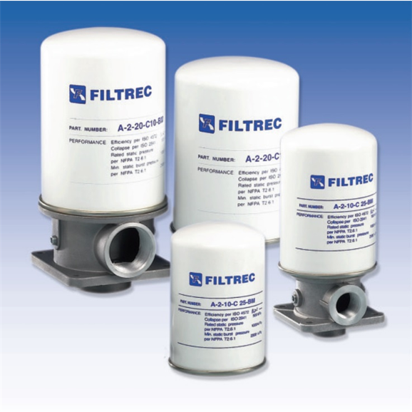Filtrec hydraulic FA-2 Tank top return line spin-on filter FA-2-11-C10-BM-B4-R1