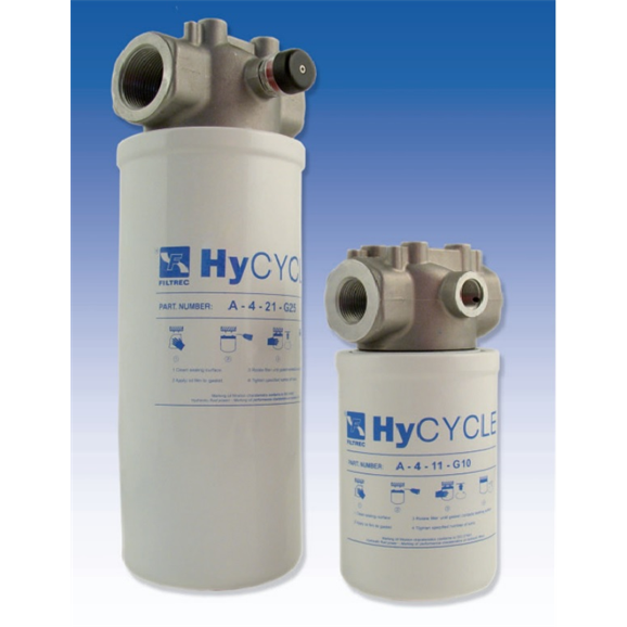Filtrec hydraulic FA-4 In line pressure and return spin on filter FA-4-12-G25-B5-D-Z34