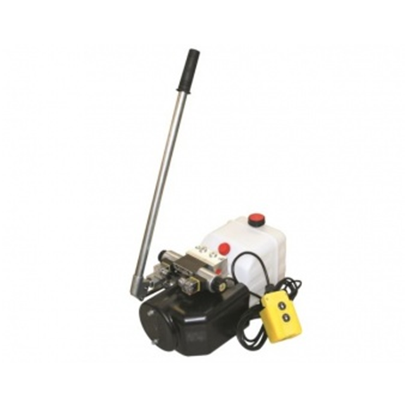 Flowfit 12VDC Double Acting Hydraulic Power pack with 8L Tank & Back up handpump ZZ005136