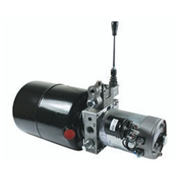 UP100 12VDC Single Acting Manual Lever Operated Hydraulic Power Unit, 3.7 L/min, 8L Tank