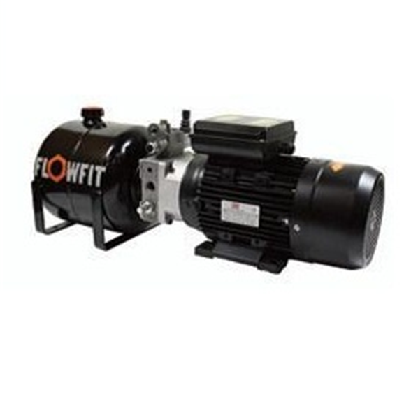 UP100 415 VAC 50HZ 3 Phase Single Acting Manual Lever Operated Hydraulic Power unit, 3.5 L/min, 8L Tank