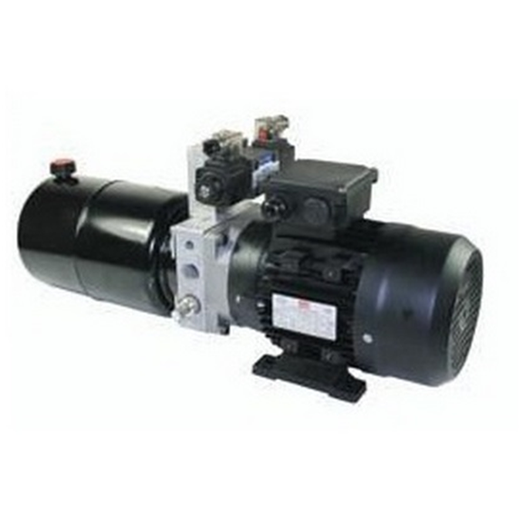 UP100 240VAC 50HZ 1 Phase Double Acting Solenoid Operated Hydraulic Power unit, 4.9 L/min, 8L Tank