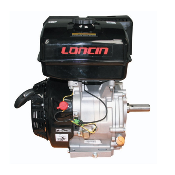 Loncin 11 HP single cylinder 4 stroke air cooled petrol engine G340F-P