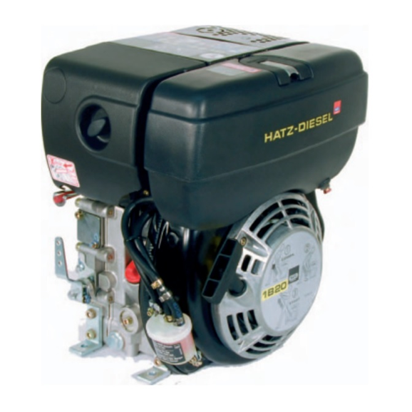 Hatz 1B20 4.2 HP diesel engine with recoil start