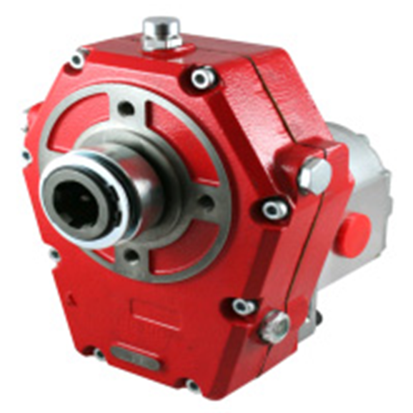 Hydraulic PTO cast iron gearbox 1:3.5, pump group 3 assembly,36.4CC, 68.80L/min 210Bar ZZ000622