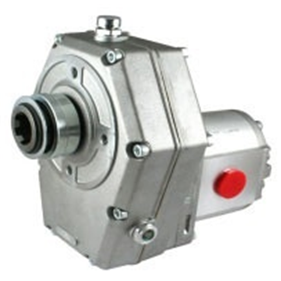 Hydraulic PTO gearbox 1:3.8, c/w group 2 pump, 22.5CC,46.17L/min, 110Bar ZZ001060