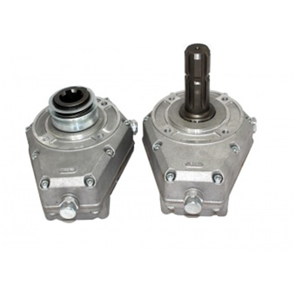 Hydraulic series 60000 PTO gearbox, group 2 male shaft, ratio 1:3,8 with pinion gear T9 SAE DP 10Kw 33-60001-6/9S