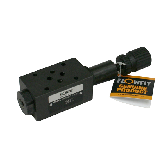Flowfit hydraulic cetop 3 modular reducing valve 70-250 Bar on the P port