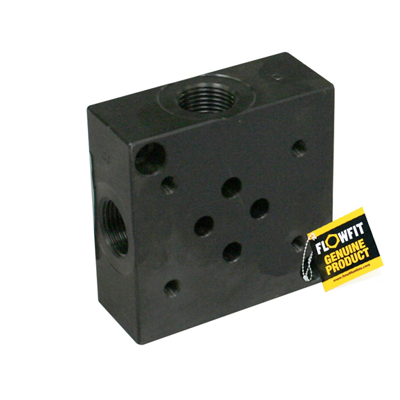 Flowfit hydraulic cetop 3 NG6 subplate side entry 3/8""