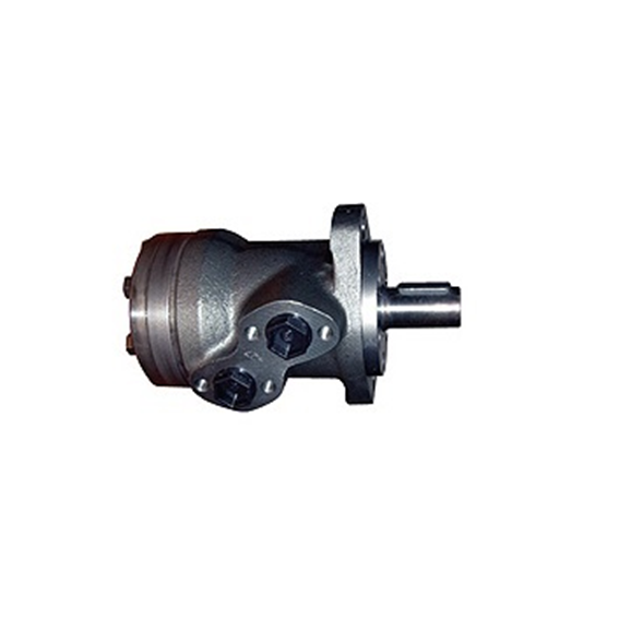 M+S Hydraulic Roll Geroter Motor, 125 CC/Rev, 35mm dia tapered shaft 1:10, 2 bolt mount, Rear ported.