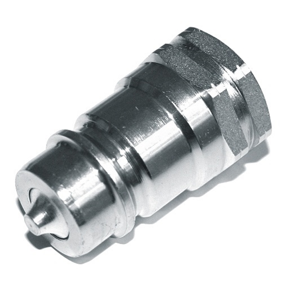 "Hydraulic ISO A quick release coupling, male, 1/4"" BSP"
