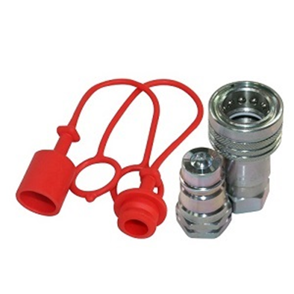 "Hydraulic ISO A quick release coupling set  1/4"" BSP"