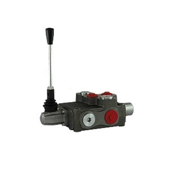 "Flowfit 6 Bank, 3/4"" BSP, 160 l/min Double Acting Spring Return Lever Operated Hydraulic Monoblock Valve"