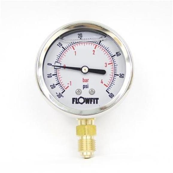 Hydraulic Pressure Meter : Glycerine filled hydraulic pressure gauge base entry mm