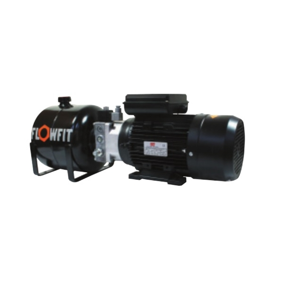 UP100 415 VAC 50HZ 3 Phase Single Acting Solenoid Operated Hydraulic Power unit, 2.38 L/min, 5L Tank