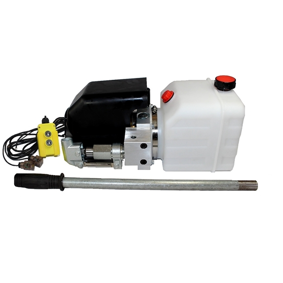 Flowfit 12VDC Single Acting Hydraulic Power pack with 4.5L Tank & Back up handpump ZZ005131