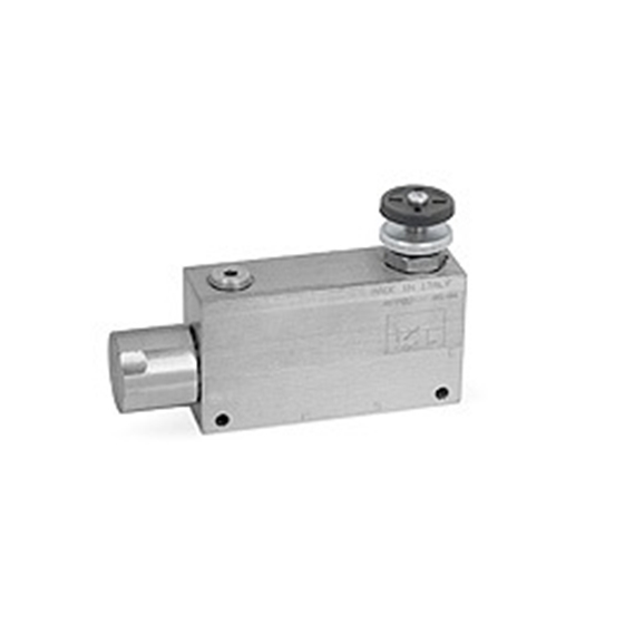 "Hydraulic 3 port flow control valve with ongoing pressure line VRP3, 3/8"""" BSP"