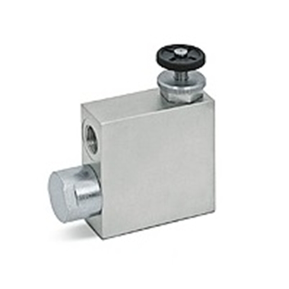 "Hydraulic 3 port flow control valve with excess back to tank RFP, 1/2""""BSP"