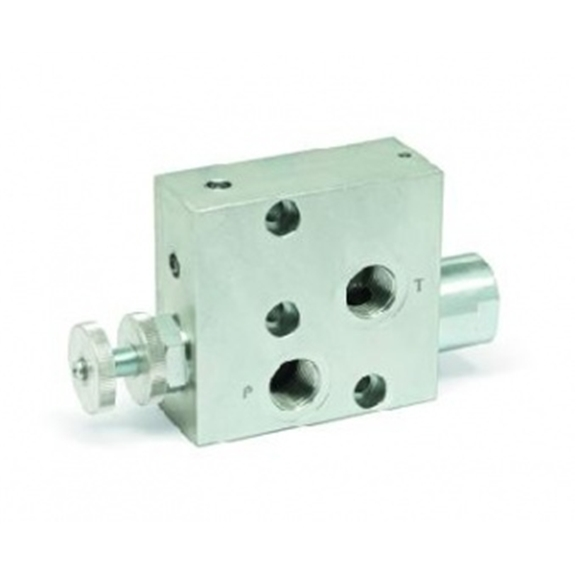 Hydraulic 3 port flow control valve excess to tank for Hydraulic motor control valve