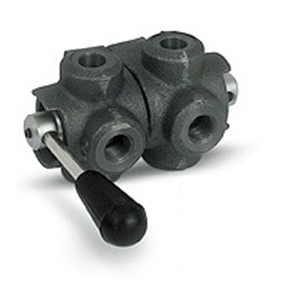 "Hydraulic 6 way diverter valve closed centre, 3/8"" BSP"