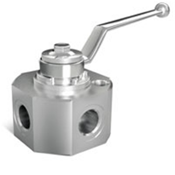 "Hydraulic 3 way steel diverter valve, DF3VIE 3/8"""" AP ACC"