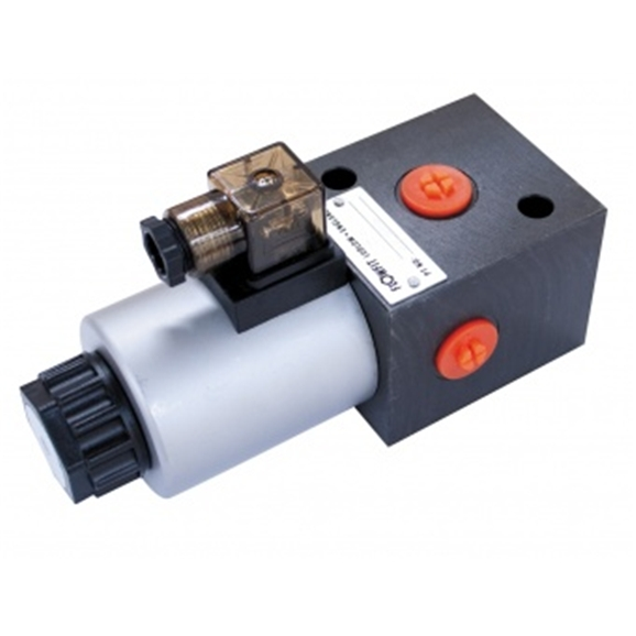 "Flowfit 3 way hydraulic solenoid diverter 1/2"""" Bsp Port Size, 12 Vdc"