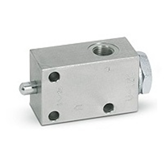 Hydraulic pushbutton end stroke valves normally closed, 3/8""