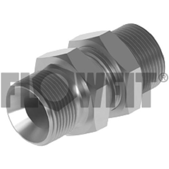 "BSP Male x BSP Male Bulkhead With Locknut, 3/8"" x 1/4"""