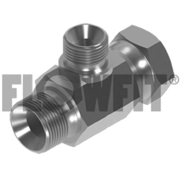 "BSP Male x BSP Swivel Femalee x BSP Male Branch Tee-Reducing On Branch, 3/8"""" x 3/8"""" x 1/4"""""